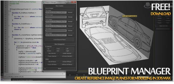 Blueprint manager create reference image planes for modeling in blueprint manager script allows you to automatically set up and manage reference image planes from a set of blueprints malvernweather Choice Image